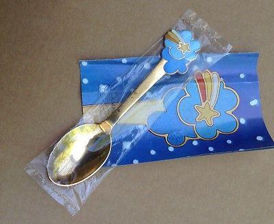 Michelsen Danish gilded Christmas sterling silver spoon/  shooting star/ 1975