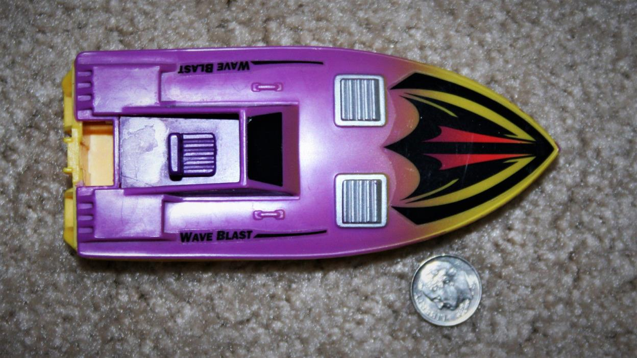 Lanard Wave Blast Speed Boat Vintage Toy Boat 1988 ~ 4.5