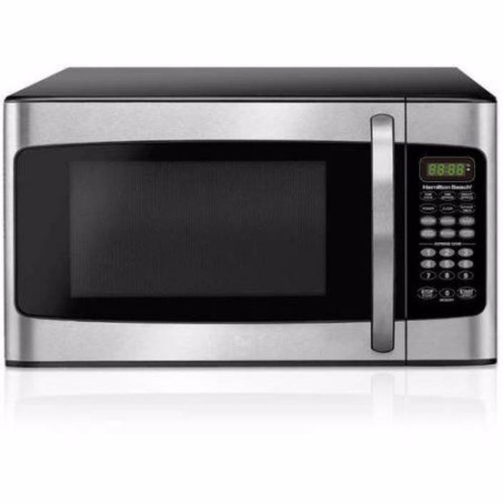 1.1 cu ft Microwave Stainless Steel Hamilton Beach 10 Power Levels LED Display