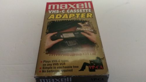 Maxell VHS-C to VHS VCR Player Cassette Tape Adapter VP-CA no batteries required