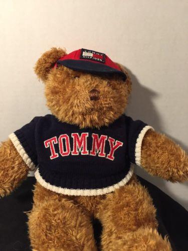 Tommy Hilfiger Teddy Bear Plush Logo Sweater Hat Toy Designer Teddy 15