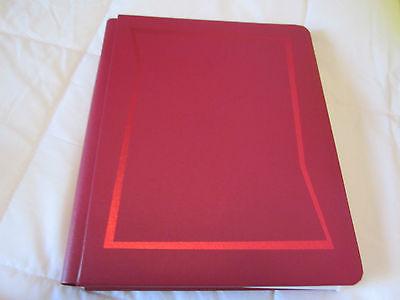 CREATIVE MEMORIES RED 9X11SCRAPBOOK ALBUM /28 PGS/PREMADE /SCHOOL/ALPHABET PAGES
