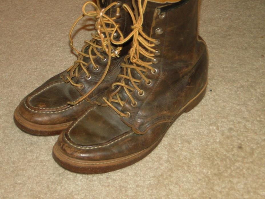 Vintage   Leather Boot Engineer Motorcycle Boot size.8.5 MENS