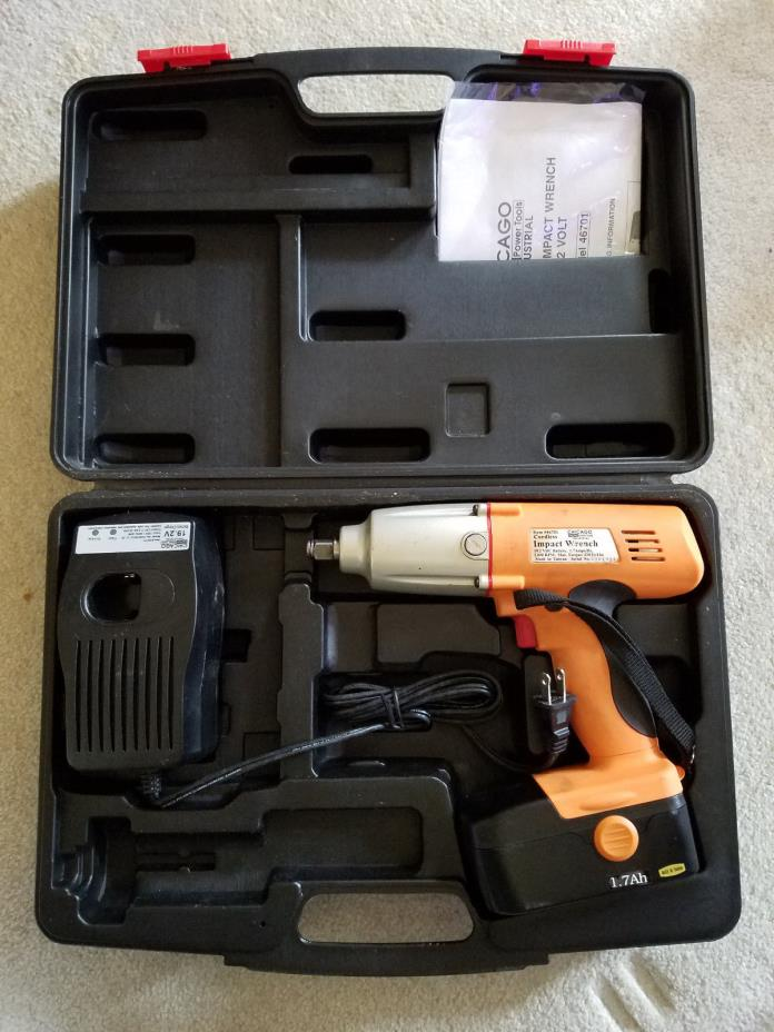19.2 Volt 1/2 in. Chicago Electric Power Tools Cordless Impact Wrench