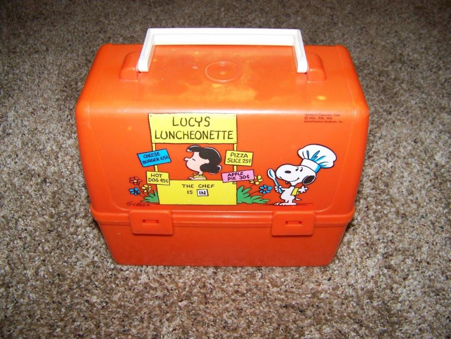Peanuts Lunch Box Vintage 1965 Lucy's Luncheonette with Snoopy