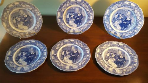 6 Crown Ducal Colonial Times Salad Plates