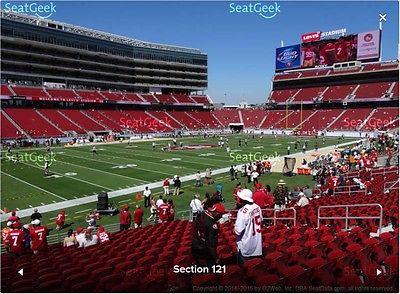 San Francisco 49ers 2017 Season Tickets: Sec 121 Row 29