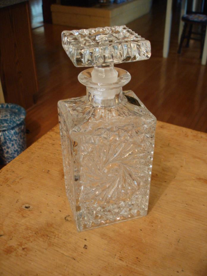 "Beautiful Bleikristall 9.5"" Crystal Decanter Lausitzer Glas Made in East Germany"