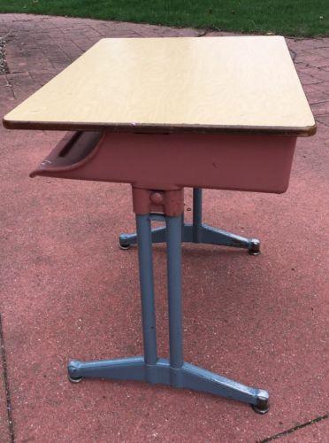 Teacher's School Desk Industrial Vintage Metal -Mid Century-Atomic-Retro
