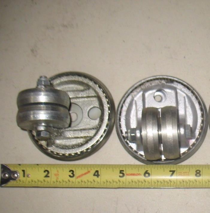 1 set of 2 Low-Profile Dual-Wheel Casters