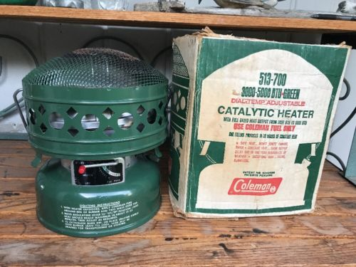 Vintage 11-69 Coleman 513-700 Catalytic Heater 3000-5000 BTU fired once w box