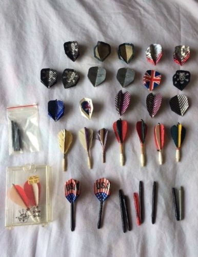 Large Vintage Lot Darts And Flights