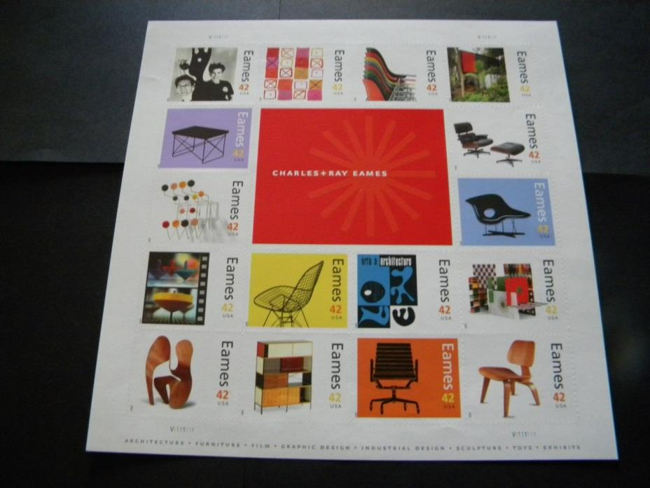 U.S. MINT STAMP SHEET CHARLES AND RAY EAMES