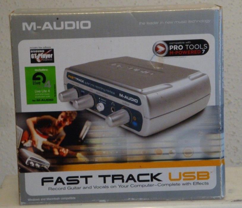 M-Audio Fast Track USB Audio Inteface In Original Box