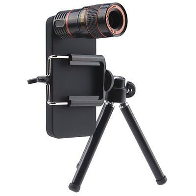 GooDGo Cases 8X Telephoto Lens Fish Eye Lens Wide Angle Micro Lens with Tripod 4