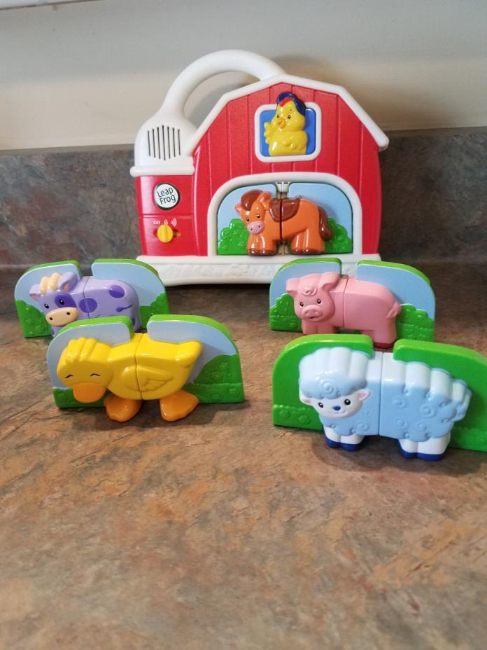 *LeapFrog* Fridge Phonics Farm Animals!  Magnetic Barn EUC! Complete .