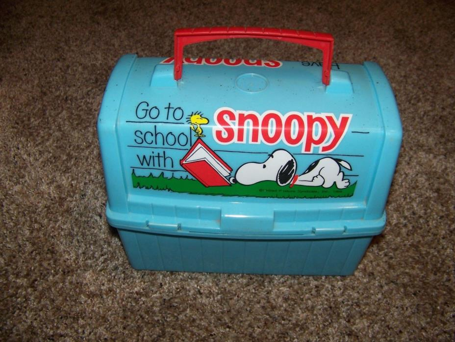 Peanuts Lunch Box Vintage 1968 Have Lunch With Snoopy Thermos included NICE!