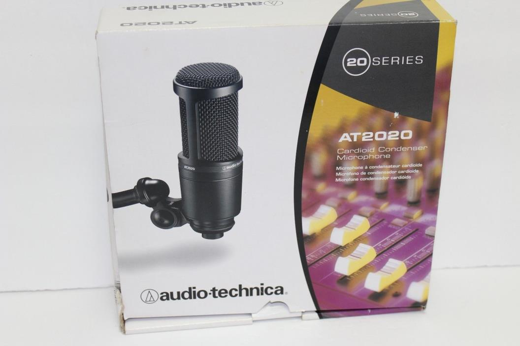 Audio Technica Cardioid Condenser Studio Microphone MIC AT2020