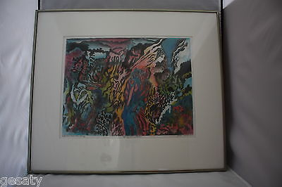 Framed and Matted Abstract