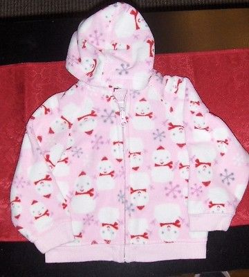 Old Navy snowman zip-up jacket - 12-18 months