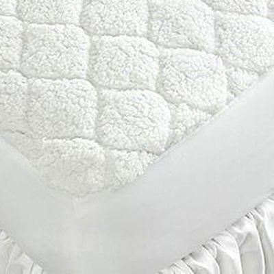 Biddeford Blankets Sherpa Quilted Electric Heated Mattress Pad with a Digital