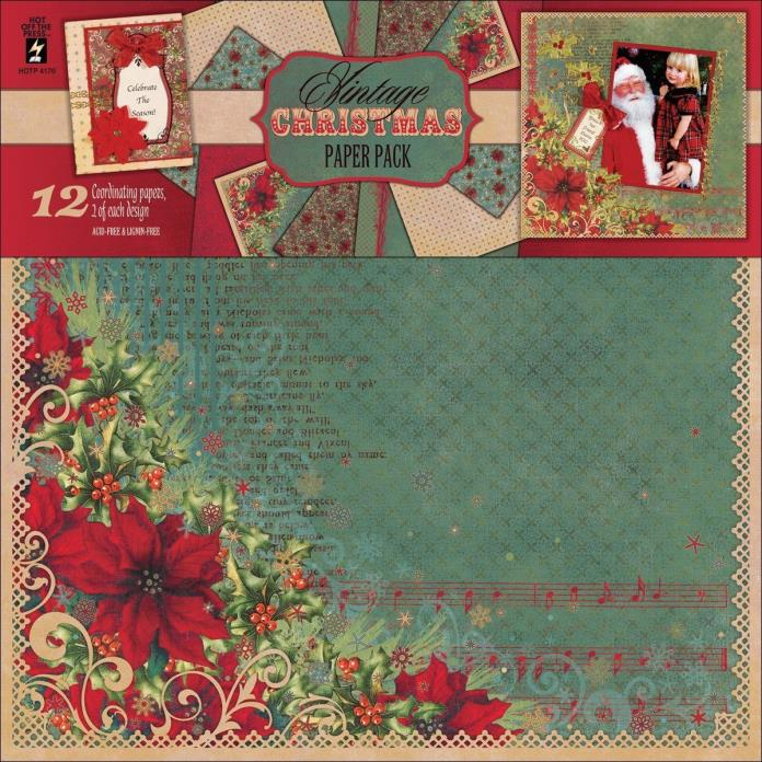 Vintage Christmas Scrapbooking Paper Pack 12 x 12 NEW