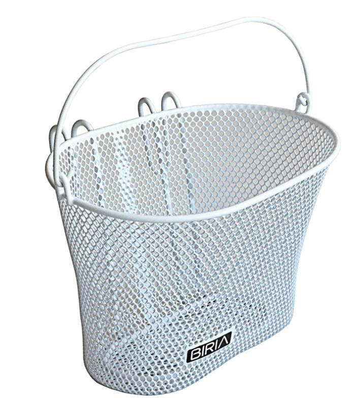 Basket with hooks WHITE, Front , Removable, wire mesh SMALL, kids Bicycle basket