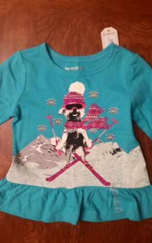 NWT - Toddler Girl's Arizona Jean Co Blue Long Sleeve Top - Size 2T