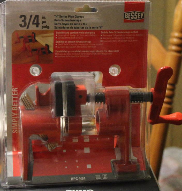 Bessey BPC34 3/4Inch H Style Pipe Clamp, Free Shipping