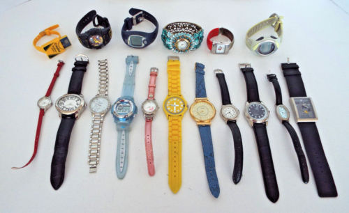 17 Nonworking Vintage Modern Watches For Parts Repair Sold As Found Estate Lot