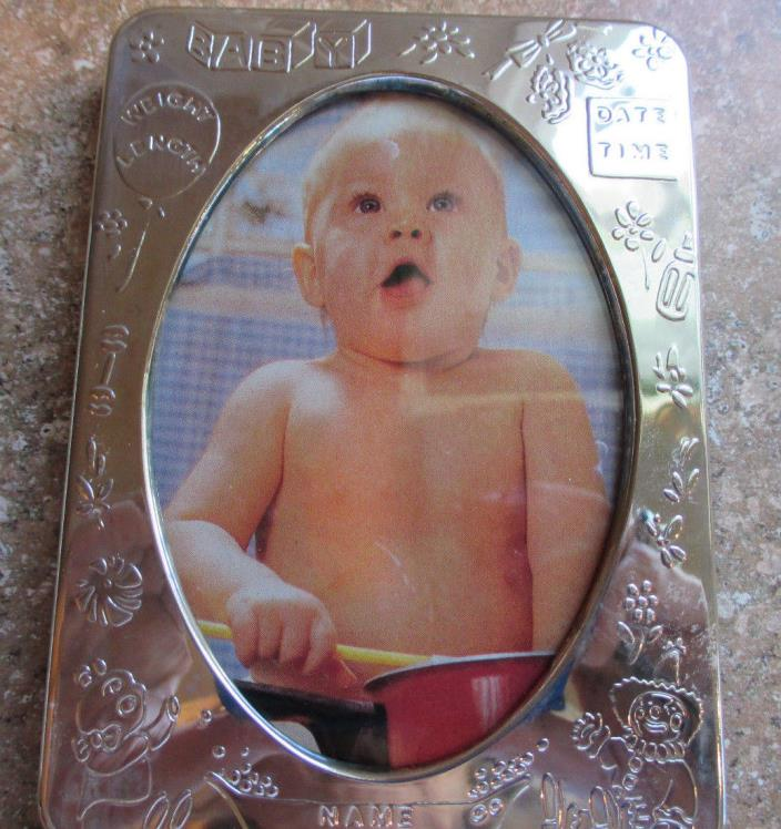 Sterling Silver Baby Photo Frame NEW