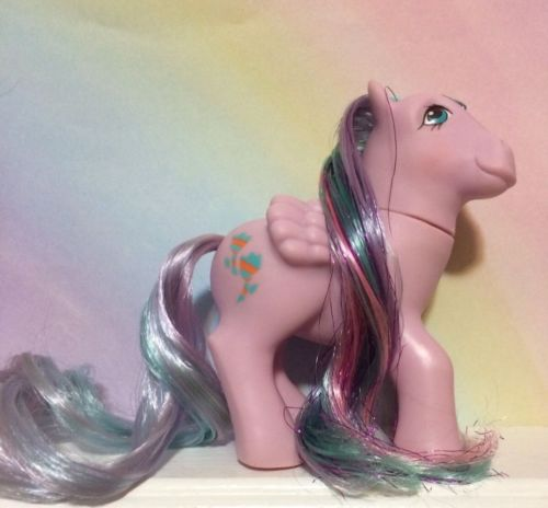 ~MY LITTLE PONY G1**Brilliant Bloom** Brush 'n Grow Pony(NEAR MINT )'87 Vintage