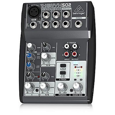 Behringer XENYX502 Mixers 5-Channel Mixer