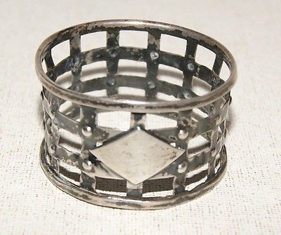 Antique Sterling Silver Open Work Napkin Ring