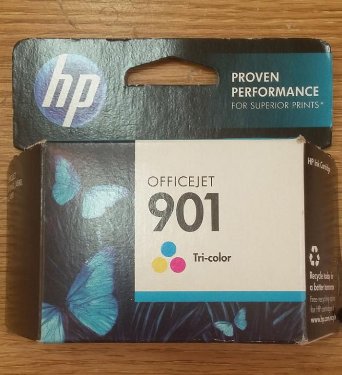 Genuine HP 901 Tri-Color Ink Cartridge Expiration Date November 2013