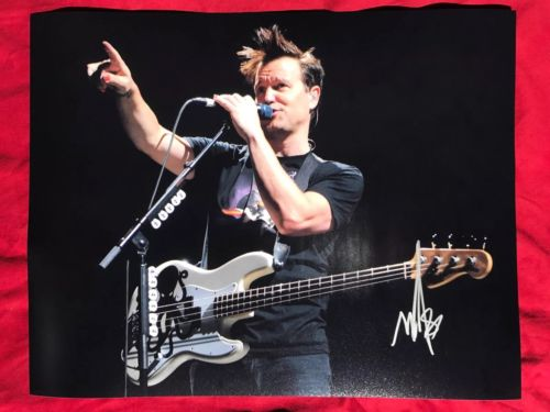 Mark Hoppus Signed 11x14 Photo In Person Autograph Blink 182