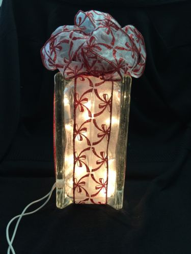 • Lighted Glass Christmas / Holiday Package