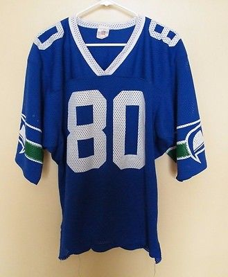 VINTAGE - STEVE LARGENT # 80 SEATTLE SEAHAWKS /  FOOTBALL JERSEY.