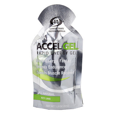 PACIFIC HEALTH NUTRITION Accel Rapid Energy Gel Key Lime Box of 24 Energy 1.3 oz