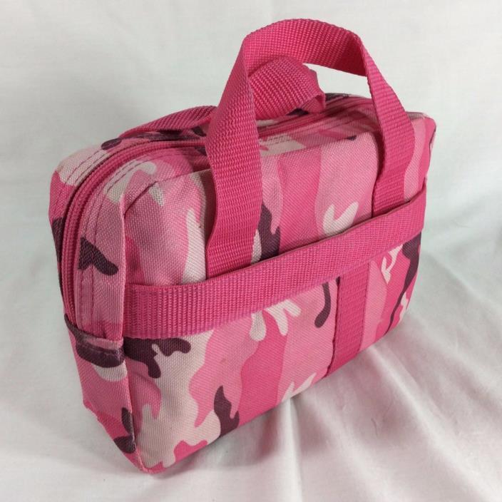 Canvas Pink Camo LDS Scripture Case Standard Mormon Quad Tote Carrying Zipper
