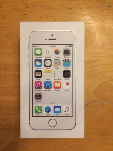iPhone 5S Box Only Silver Excellent Condition