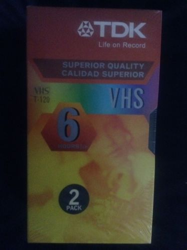 TDK Blank 6-Hour VHS Tape (Not A 2-Pack)