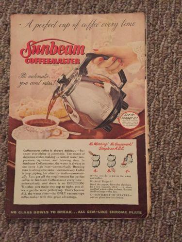 Vintage Sunbeam Coffeemaster Recipe Booklet