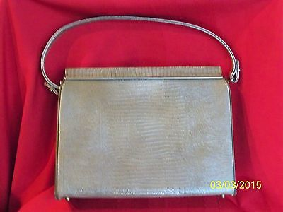TRIANGLE NEW YORK Vintage Lizard Tan/Taupe/ Brown Leather (?) Handbag