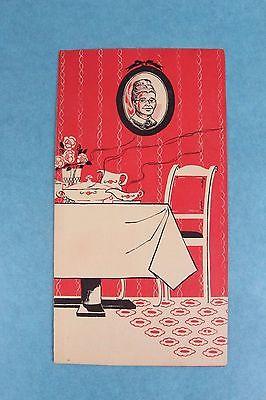 VINTAGE 1950's GRANDMA'S TABLE RESTAURANT DINNER MENU BEAVERTON OREGON PORTLAND