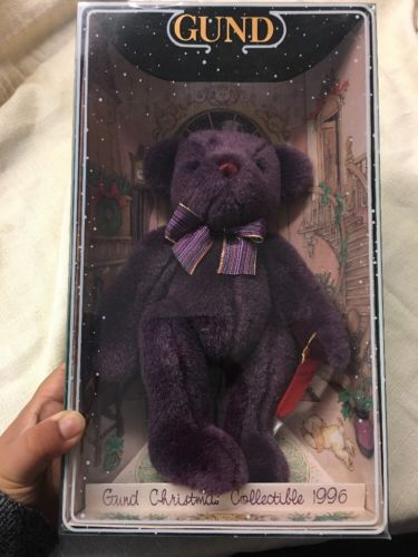 1996 Christmas Collection - Gotta Getta Gund Bear, Purple 9