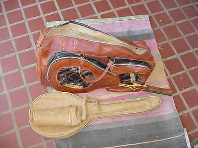 Vintage TENNIS RACQUET Bag Old Tennis Racket with Cover Decor Display asis