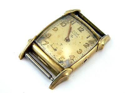 Antique Art Deco Elgin Deluxe Sub Dial 624 17j 10k Gold GF Wristwatch Watch Case