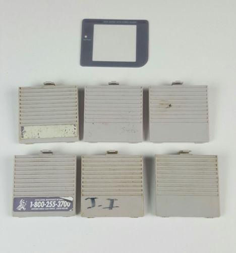 6 GAMEBOY ORIGINAL SYSTEM BATTERY BACKS/COVERS ITEM  Nintendo Handheld GB Parts