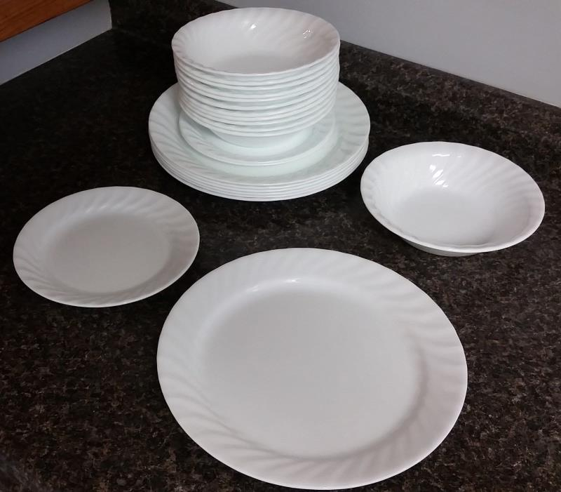 22 CORELLE Vive VITRELLE Dishes:7 10 1/4